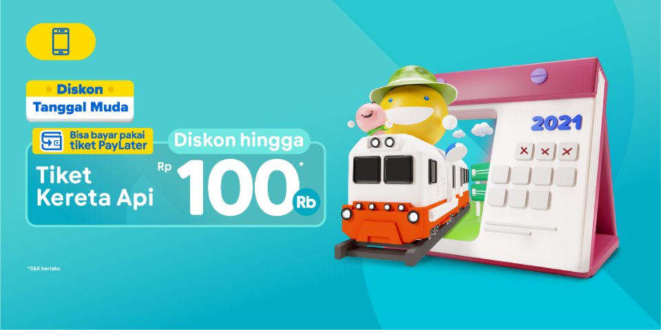 Diskon Tiket Kereta Hingga 100 Ribu