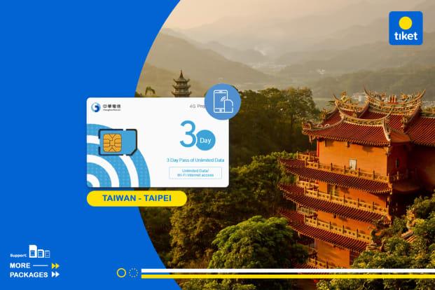 Taiwan 4G SIM Card (Pengambilan di Bandara Taipei)