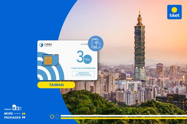 Kartu SIM 4G Taiwan  (Pengambilan di Taipei, Taichung, atau Bandara Kaohsiung)