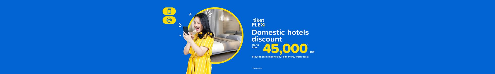 Promo tiket FLEXI hotel, Voucher Mulai 45rb - tiket.com