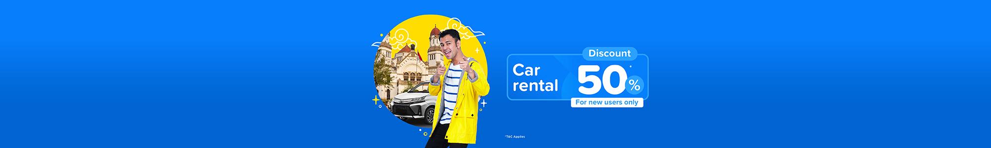 Promo Sewa Mobil Diskon 50% - tiket.com