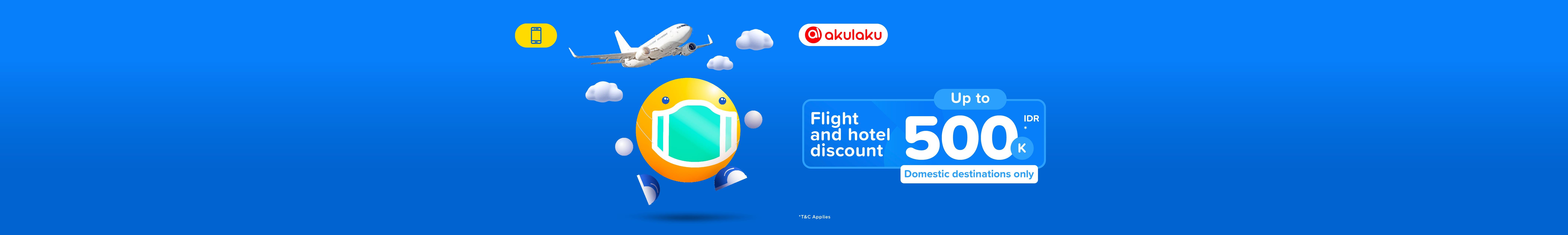 Promo Akulaku, Diskon Pesawat & Hotel 500.000 - tiket.com