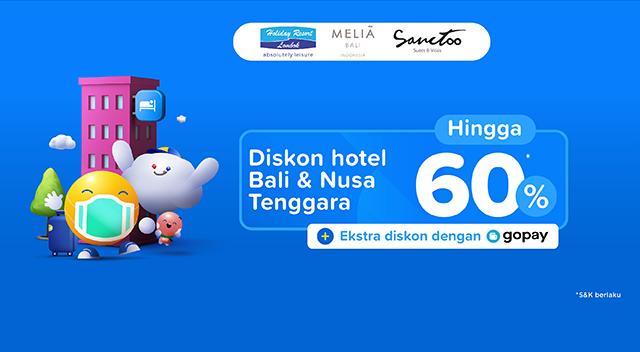 Diskon Hotel Bali dan Nusa Tenggara hingga 60%