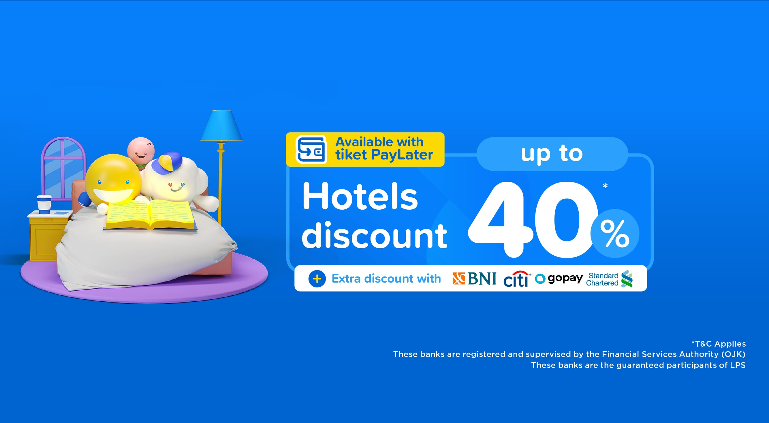 Hotel discount up to 40%