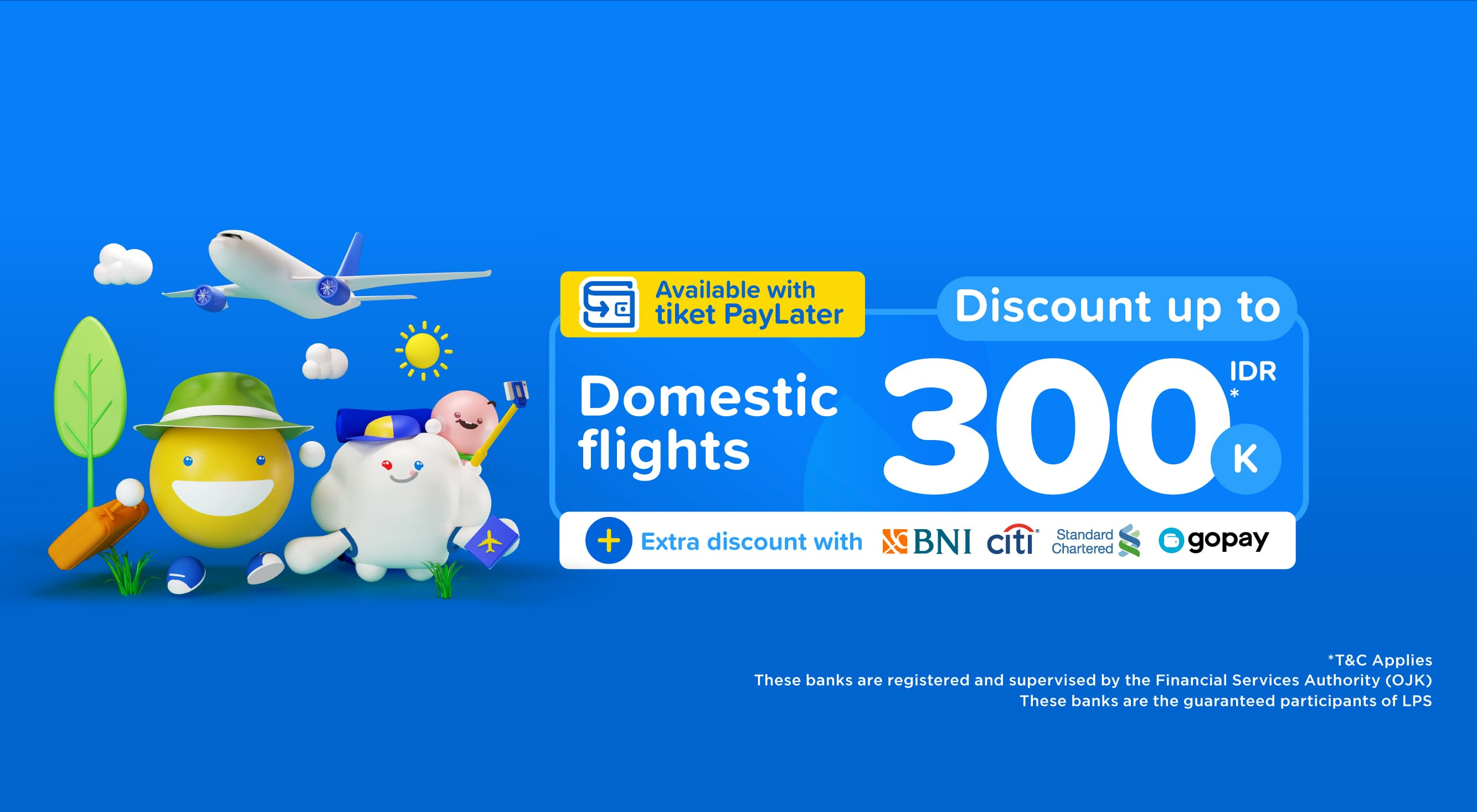 Domestic flight discount up to 300,000 IDR