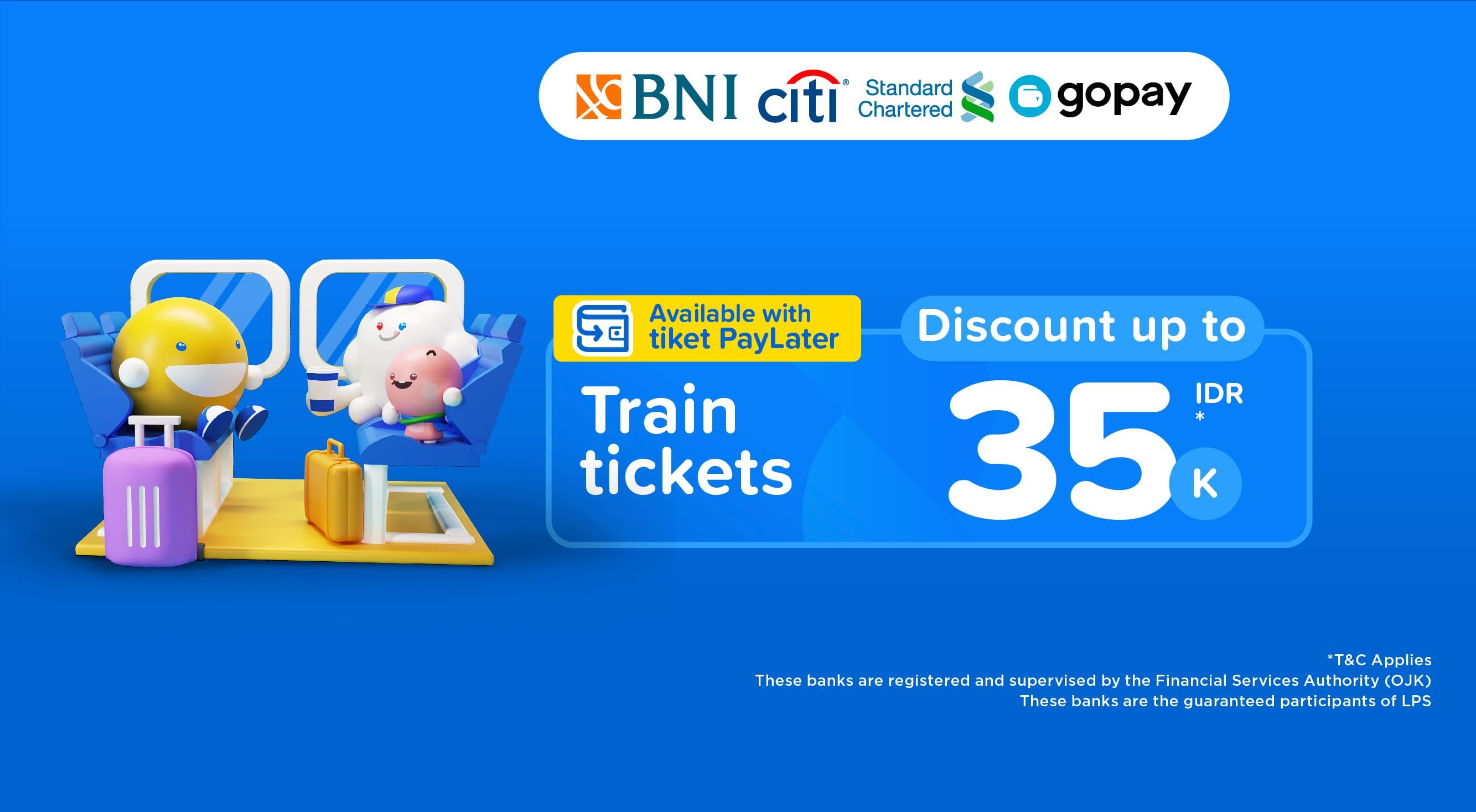 Train ticket discount 35,000 IDR