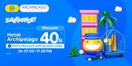 SALEPRISE 40% Discount on Archipelago Hotels