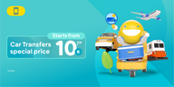Car Transfers Starts From 10,000 IDR