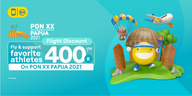 Fly and Watch PON XX, Discount 400,000 IDR