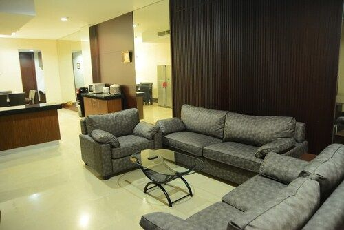 Great Location 2BR Pearl Garden Apartment By Travelio, South Jakarta