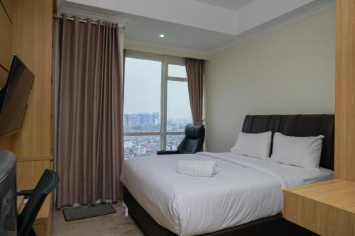 Comfy Studio Room with City View at Menteng Park Apartment By Travelio, Jakarta Pusat