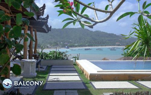 Beach Balcony Ocean View Villa, Lombok