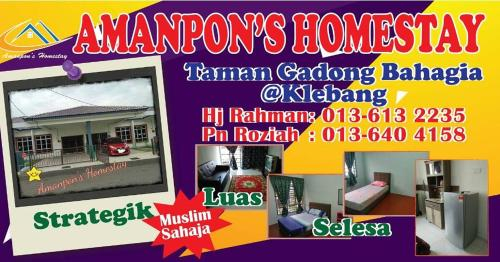 Amanpon's Vacation Home Klebang Melaka, Kota Melaka