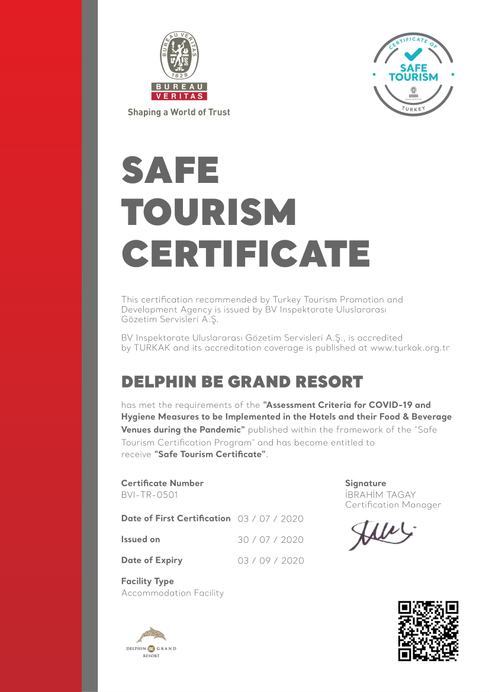 Delphin Be Grand Resort, Merkez