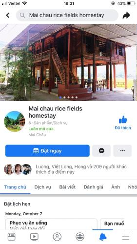 mai chau rice fields homestay, Mai Châu