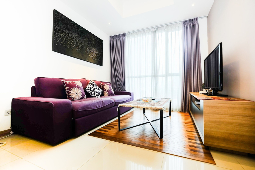 1BR Apartment with Big Sofa Bed at Casa Grande Residence, South Jakarta