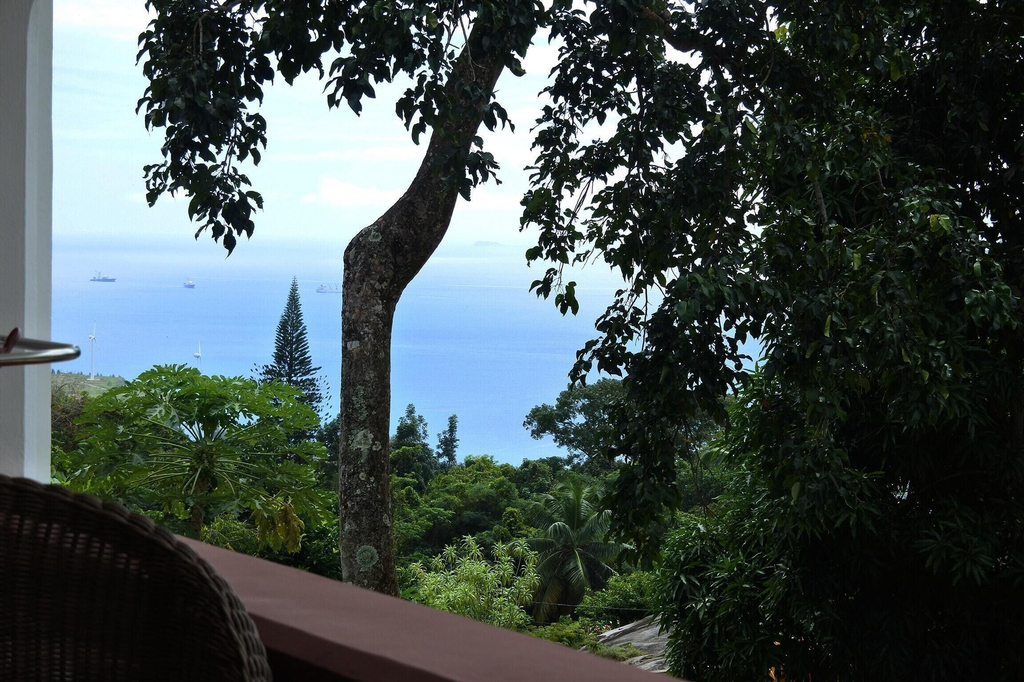 Studio in Mahe, With Wonderful sea View, Furnished Terrace and Wifi -,