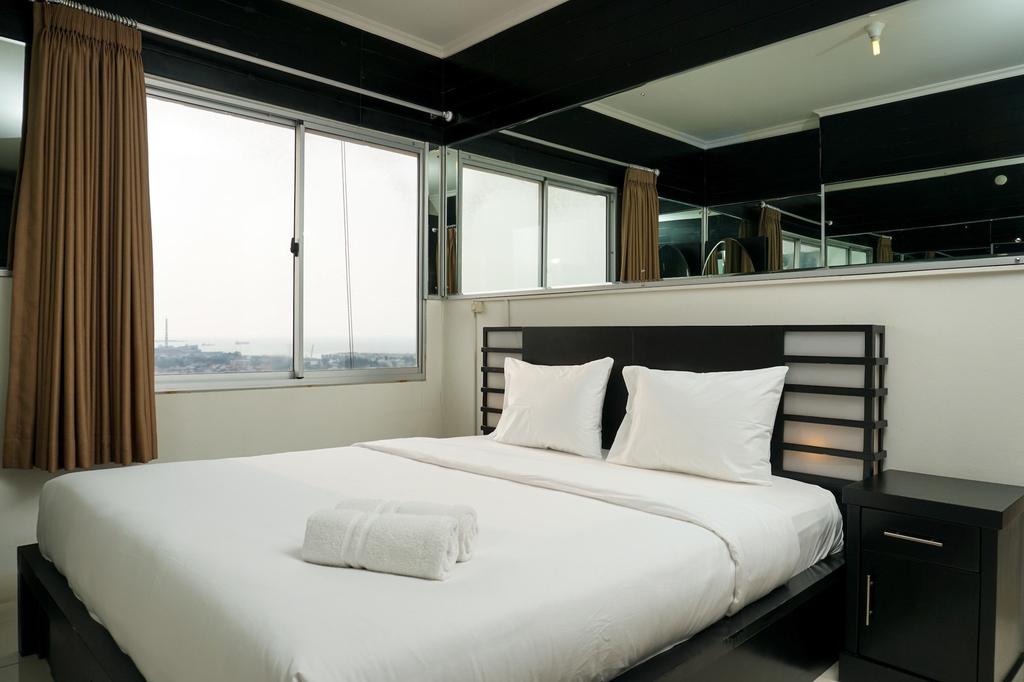 2BR Apartment Seaview with Workspace at Mediterania Marina Ancol, Jakarta Utara