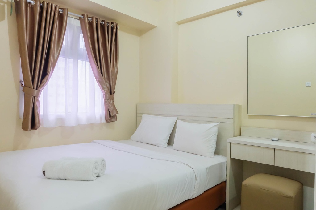 Modern and Comfy 2BR Green Pramuka Apartment, Central Jakarta