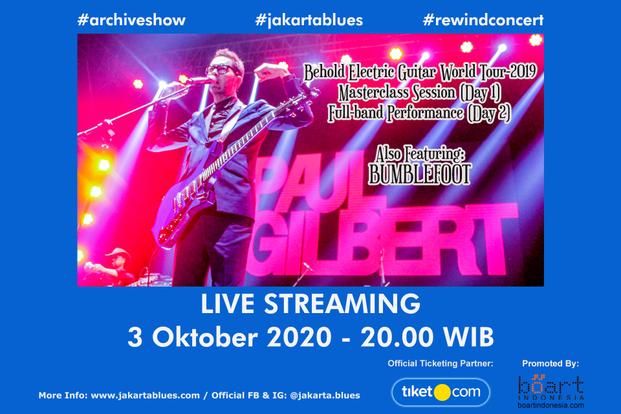 Paul Gilbert - Live Streaming , Jakarta Blues International Festival-bg