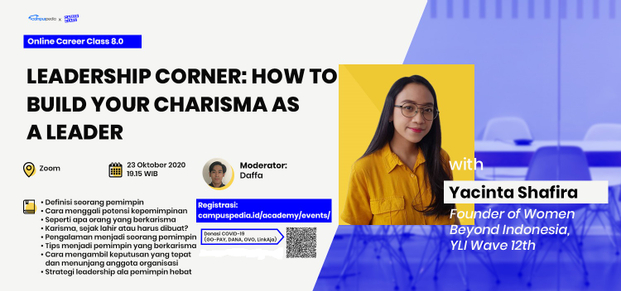 Webinar Online Career Class Leadership Corner: How to Build Your Charisma as a Leader