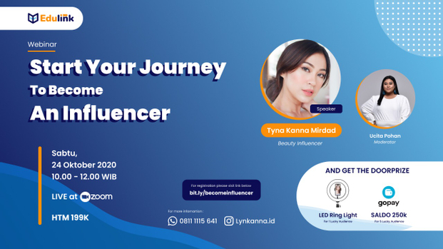 Webinar Start Your Journey to Become An Influencer