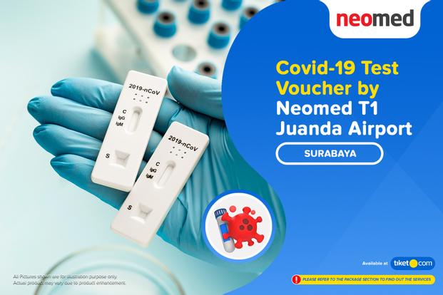 COVID-19 Rapid / Swab Antigen Test by Neomed T1 Juanda Airport , Surabaya