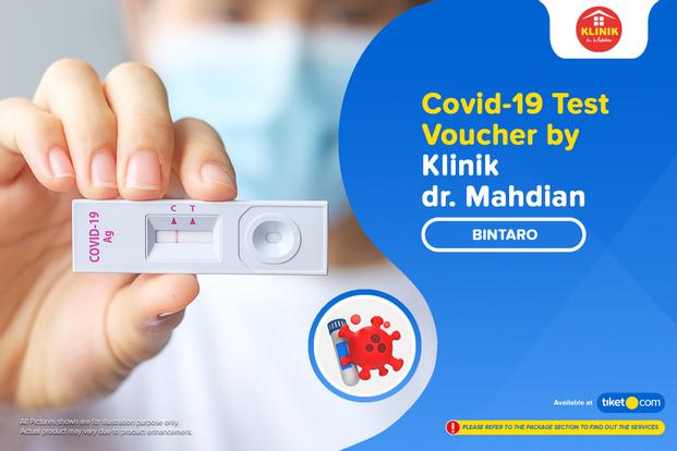COVID-19  Rapid Antigen / PCR Swab Test by Klinik dr. Mahdian Bintaro
