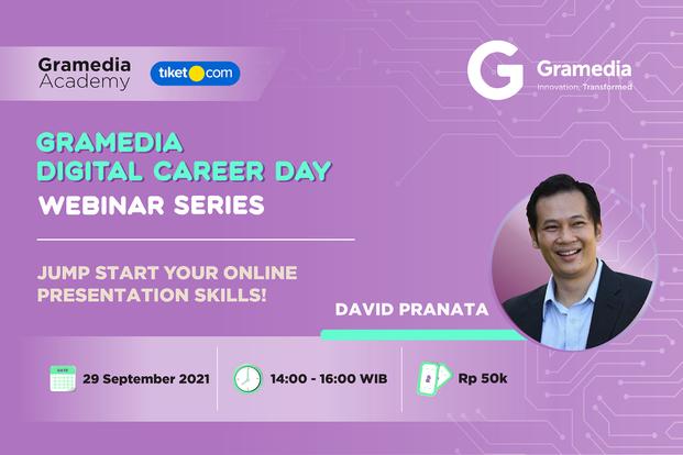 Jump Start Your Online Presentation Skills! with David Pranata by Gramedia Academy