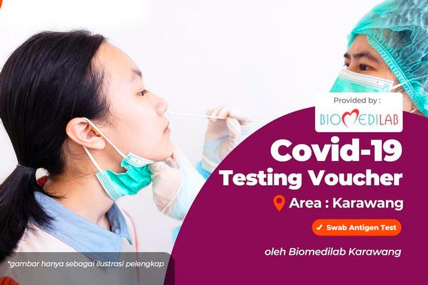COVID-19 Antigen Test Drive Thru in Biomedilab Karawang