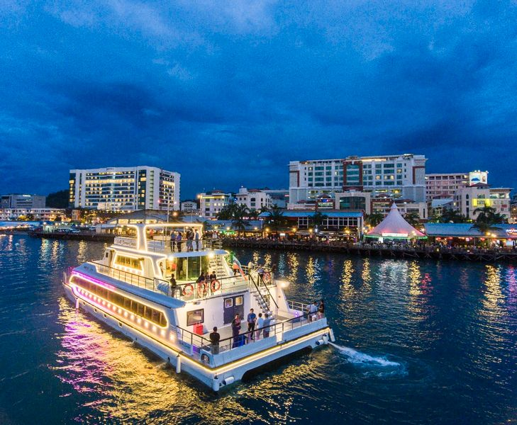 Sunset and City Night Dinner Cruise with Complimentary Drinks in Kota Kinabalu