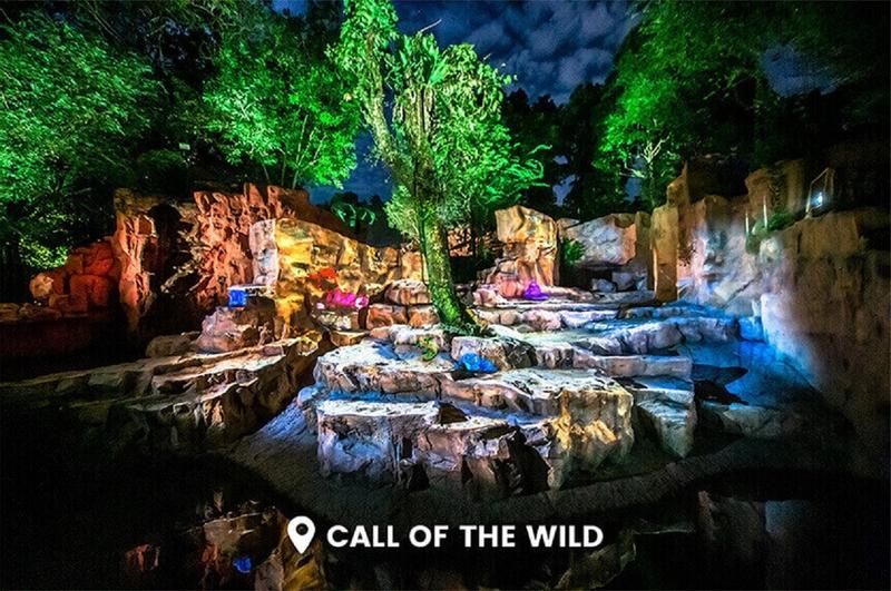 Rainforest Lumina di Singapore Zoo