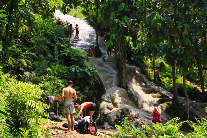 Sticky Waterfall Climbing Adventure in Chiang Mai