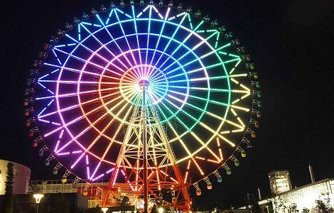 Odaiba Palette Town Giant Ferris Wheel in Tokyo