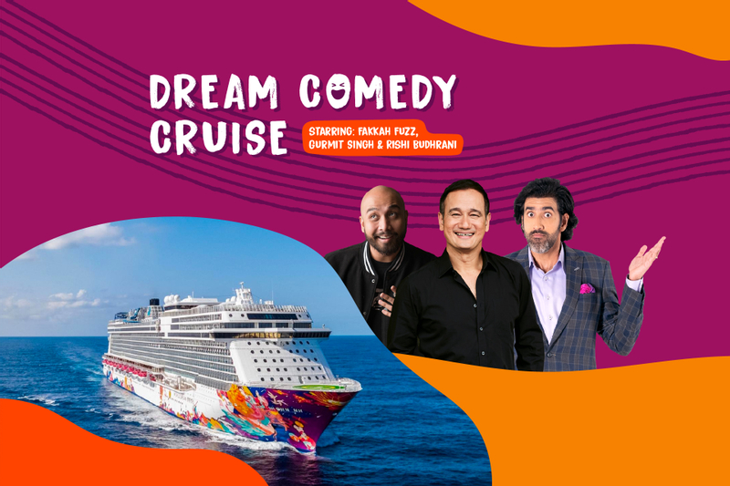 [ Exclusive] Dream Cruise Comedy Show by Gurmit Singh, Rishi Budhrani and Fakkah Fuzz