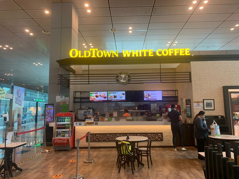 Old Town White Coffee at Changi Airport