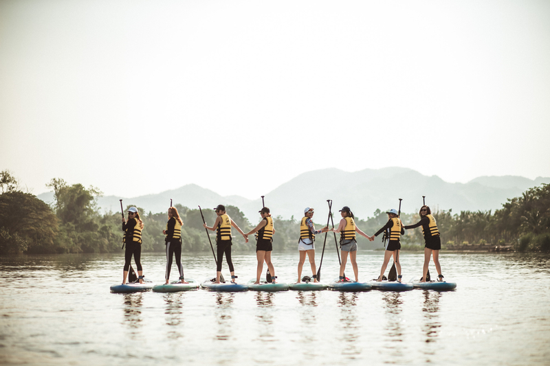 SUP Experience in Kwai River Kanchanaburi by Paddle More Thailand