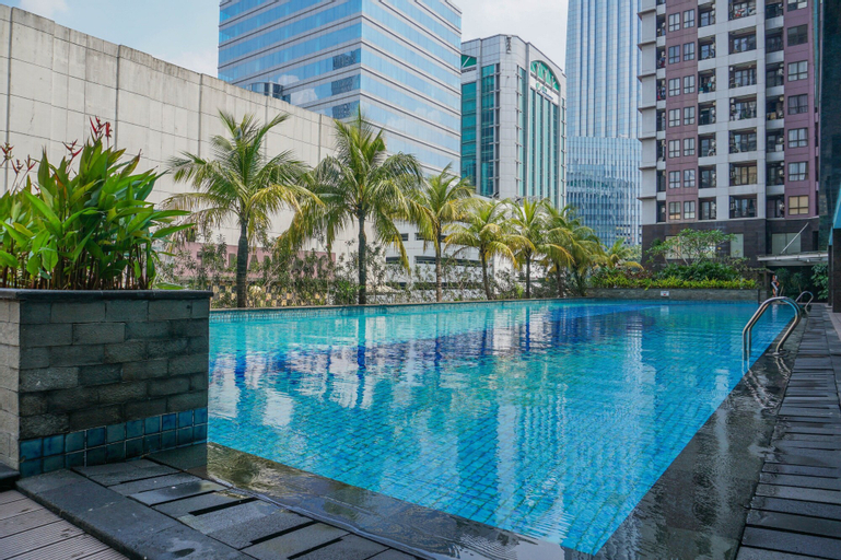 Modern Style 2BR at Tamansari Semanggi Apartment By Travelio, Jakarta Selatan