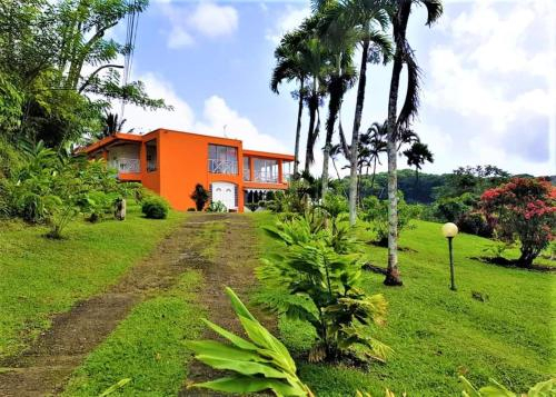 House with 5 bedrooms in saintjoseph with wonderful sea view enclosed garden and WiFi, Saint-Joseph