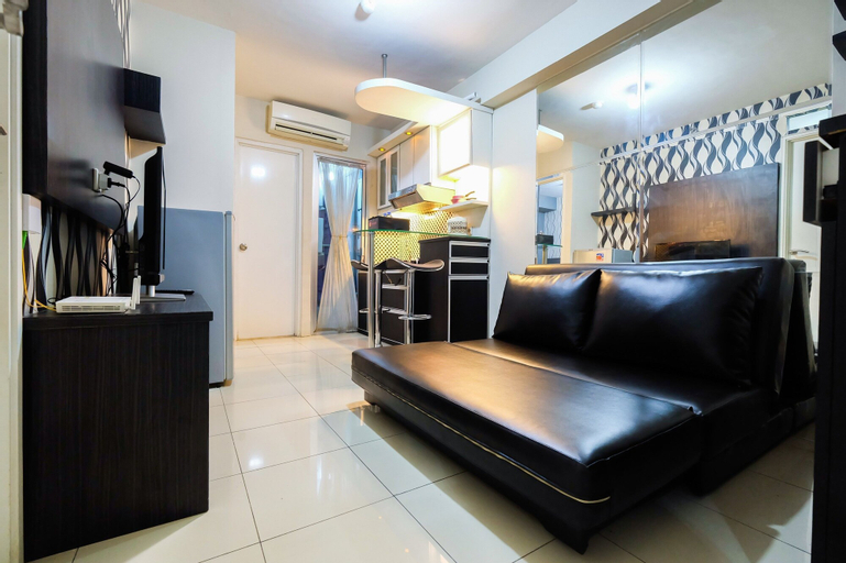 Monochrome Style 2 Bedrooms at Kalibata City Apartment By Travelio, South Jakarta