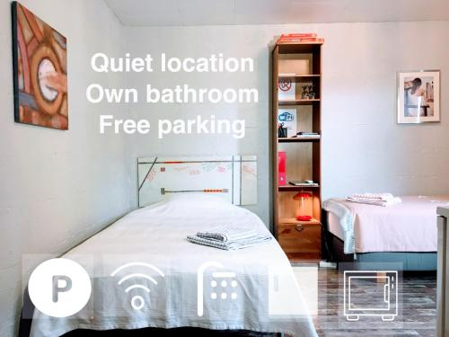 Spacious guest room with private bath and free parking, Trondheim