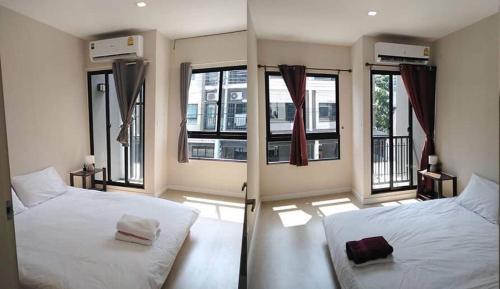 ห้องพักรอเครื่องบิน เปลี่ยนไฟล์ท รับส่งฟรี พักได้ 2 ห้อง, 4 คน พักชั้น 2 บ้านเดียวกับโฮส, Don Muang