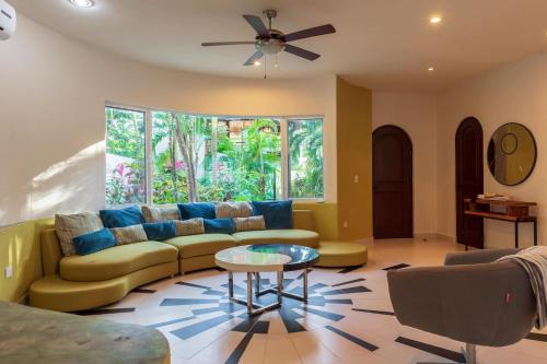 Private house with guest casita, pool, & gardens By Greenwood Properties, Cozumel