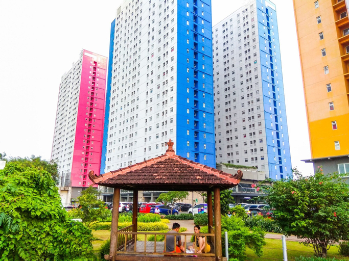 Homey 1BR with City View at Green Pramuka Apartment, Central Jakarta