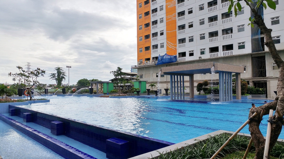 Connected to Mall 2BR Apartment at Green Pramuka City By Travelio, Central Jakarta