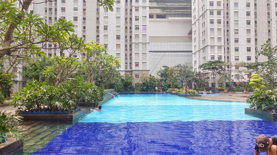 Sea View 2BR Apartment at Green Bay Condominium By Travelio, North Jakarta