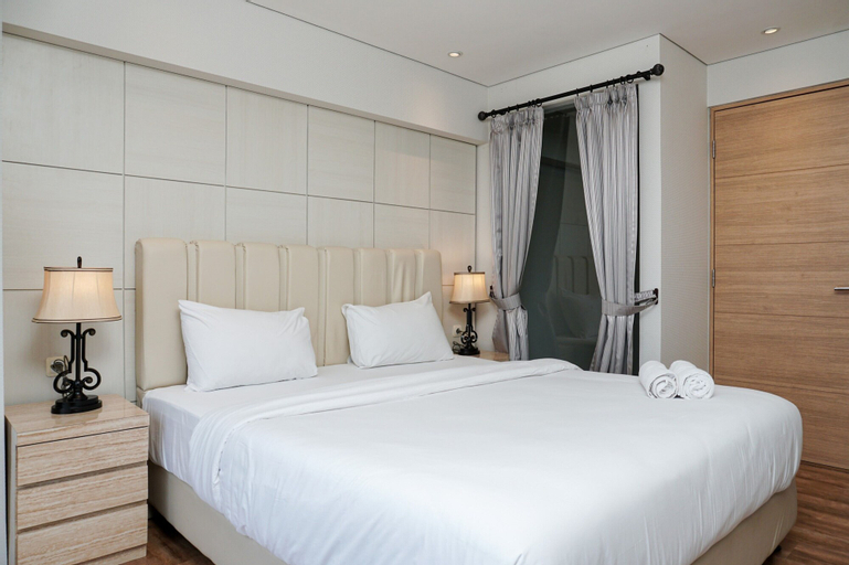 Stunning 2BR Loft Apartment at Maqna Residence By Travelio, West Jakarta