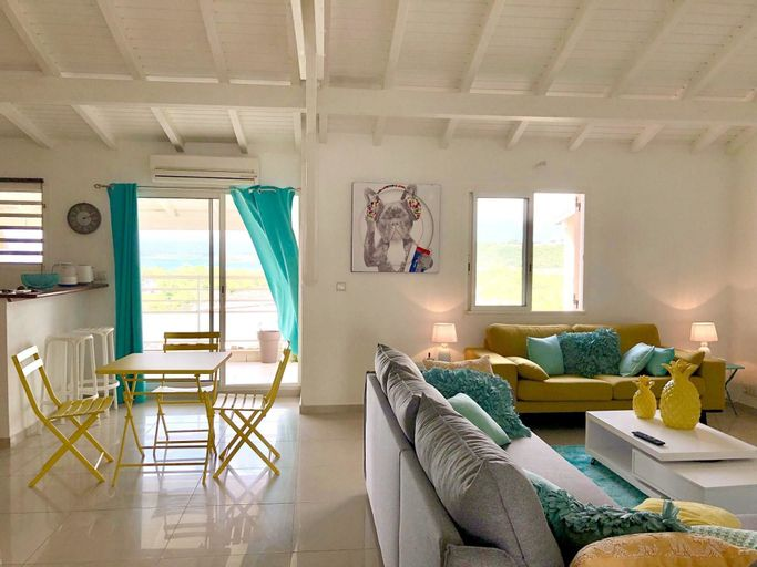 Apartment With 2 Bedrooms in Le Gosier, With Wonderful sea View, Furni, Le Gosier