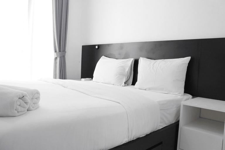 Monochrome Style Studio Room @Grand Asia Afrika Apartment By Travelio, Bandung