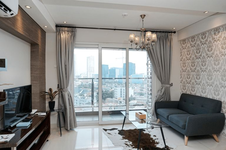 Stunning 2BR Loft Apartment at Maqna Residence By Travelio, Jakarta Barat